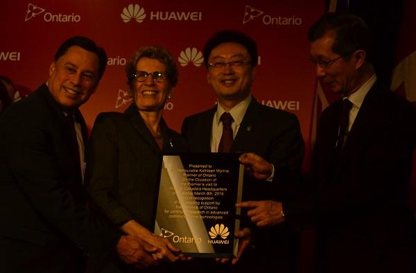 Premier Wynne at Huawei Canada HQ