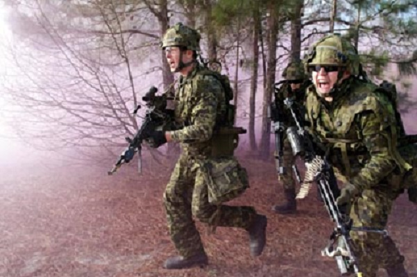 Canadian army reserves in training 2012. Photo by Cpl. Isabelle Provost
