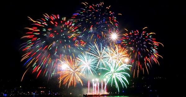Canada fireworks celebration
