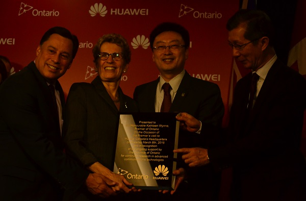 Premier Wynne at Huawei Canada HQ