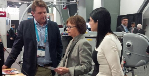 Minister Judy Foote (centre) at Cansec 2016