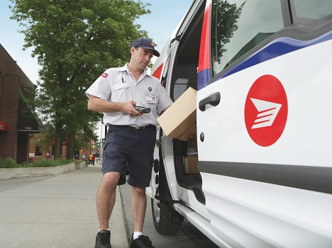 Canada Post mail carrier big