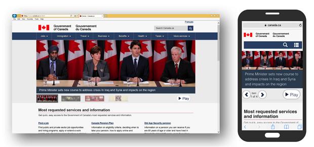 Canada.ca web site