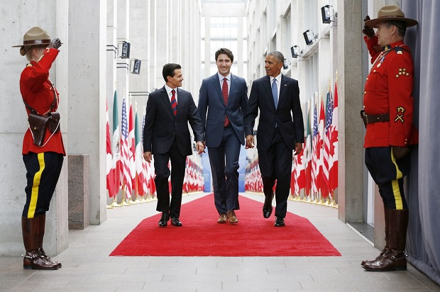 Three Amigos Pena Nieto, Trudeau and Obama